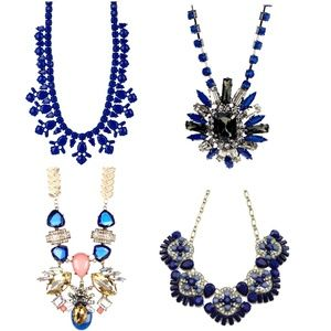 Blue Resin and Crystal Necklace Mixed Pack #N041